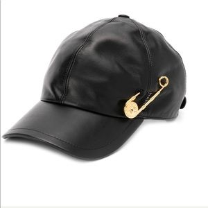 Zara 2019 leather like black, Versace style cap